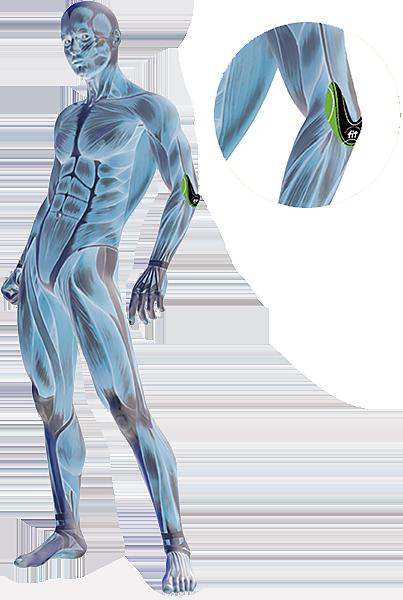 Eksempel på placering af FIT Smerteplaster