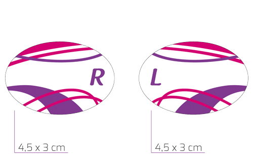 FIT Lady R (4,5 x 3 cm) og FIT Lady L (4,5 x 3 cm)